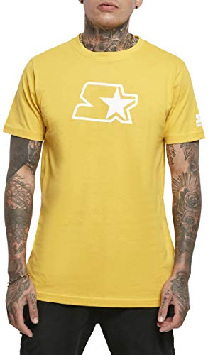 STARTER BLACK LABEL Herren Small Logo Tee T-Shirt, golden, M