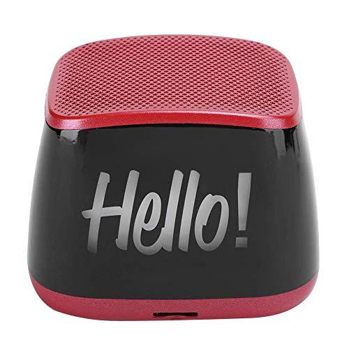 NLRHH Bluetooth-Minilautsprecher, beweglicher drahtloser Lautsprecher, Mini Bluetooth 5.0-Lautsprecher-bewegliche drahtlose Stereo-Lautsprecher Pairing 1200MAH Batterie (rot) Peng (Color : Red)
