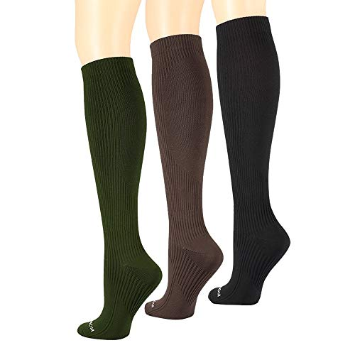 3pairs Compression Socks Women & Men 15-20 mmHg - Best Medical,Athletic, Travel & Flight Socks, Nurses,Edema,Running - Recovery & Fitness