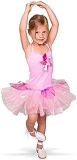 Folat 21866 Tutu-ballerina-skjorta tjej, storlek 116-134, rosa