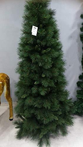 Salone Negozio Online Albero di Natale Gran Paradiso Slim CM.210 Rami PVC AD Aghi Base CM.90 Interno/Esterno