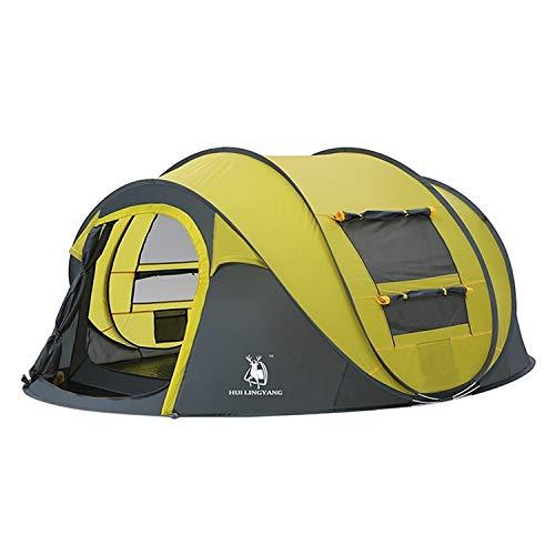 Zhouzl Prodotti da Campeggio Tenda Automatica da Campeggio HUILINGYANG Tenda Automatica da 2-3 Persone, Dimensioni: 280x200x120cm (Verde) Prodotti da Campeggio (Colore : Giallo)