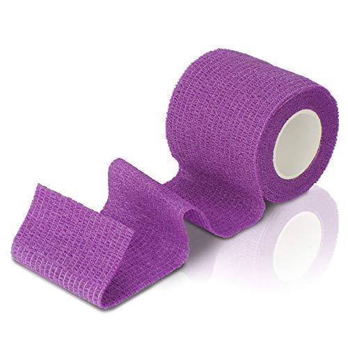 Ellas Care snabbt sårförband självhäftande bandage plåsterförband fästbindning djurförband elastiskt förband – första hjälpen för människor och djur – 5 cm x 4,5 m – latexfri, vattentät, andas