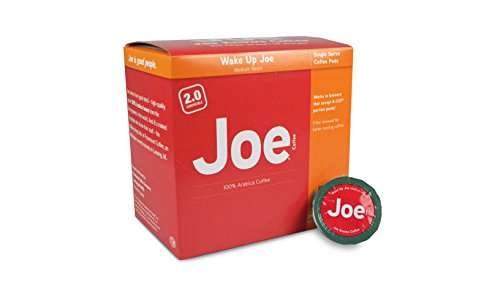 Joe Knows Coffee, Wake Up Joe, Medium Roast, Coffee Pods, 20 Count, Compatible with Keurig 2.0 Brewers