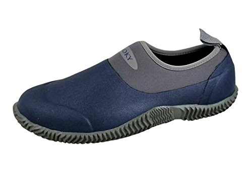 Smoky+Men%27s+3%22+Navy+Amphibian+Slip-On+with+Active+Comfort+Range+of+70F+to+-40F