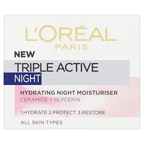 L'oreal - Triple active night, crema hidratante de noche, 50 ml