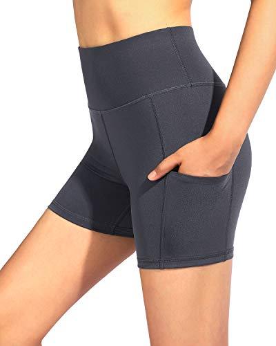 G4Free Pantalones de Yoga de Cintura Alta con Bolsillos Polainas para Mujeres Medias de Yoga para Control de Barriga Pantalones de Entrenamiento para Correr Bolsillos