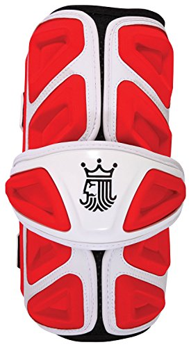 Brine King 4 Lacrosse Arm Guard, Red, Large