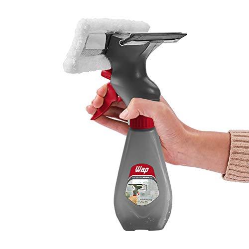 WAP Rodo Limpa Vidros 3 em 1 MOP Spray com Reservatório 300 ml Multiuso com Refil Pano de Microfibra