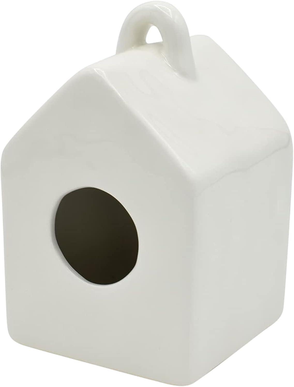 ChirpCo Mini Garden Ceramic Birdhouse for Accent Max 78% OFF Decor- Home Arlington Mall