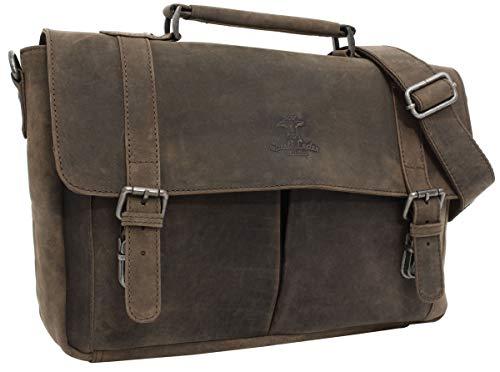 "Gusti Leder studio borsa in vera pelle ''Geoffrey'' borsa per portatile 15,4"" marrone 2B24-20-4wp"