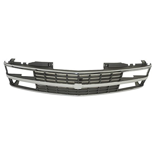 Perfit Liner New Front Chrome Argent Grille Grill Replacement For 88-93 C10 C/K 1500 2500 3500 Pickup Truck Suburban SUV Fits With Composite Quad Head Lamp Type GM1200142 15615110