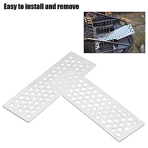 2 Stücke RC Sand Board, Aluminium Sand Leitern Recovery Board Rampe Werkzeug für 1/10 RC Crawler( Silber)