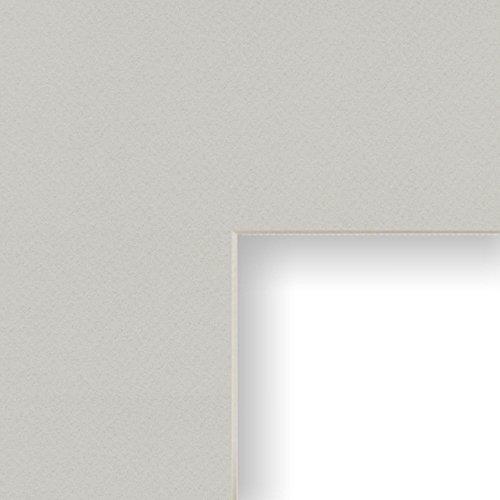 Craig Frames B535 16x20-Inch Mat, Single Opening for 12x16-Inch Image, Gray with Cream Core -  Craig Frames Inc., B53516201216