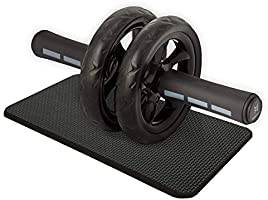 Bodytech 腹肌轮 带护膝垫 承重200千克 超静音 双滚轮 锻炼 Abs BTS91NH001