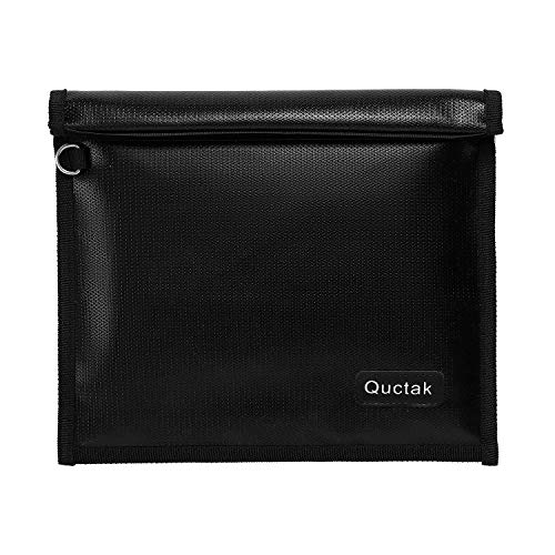 """Faraday Bag, Signal Isolation Bag for Phones, Fireproof Shield Pouch, Prevents Hacking,Tracking,and NFC/WiFi/Bluetooth for Tablets, Phones, Key Fobs (9.8""""X11"""", Black)"""