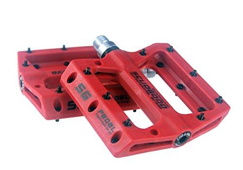 Pedales ligeros para bicicleta de montaña, para bicicletas tipo: AM, FR, DH, DJ, BMX, 1par, rojo