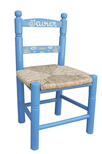 MAKONDO IMPORT-EXPORT Silla Infantil Personalizada 6 Colores 34X30X60 (Azul)