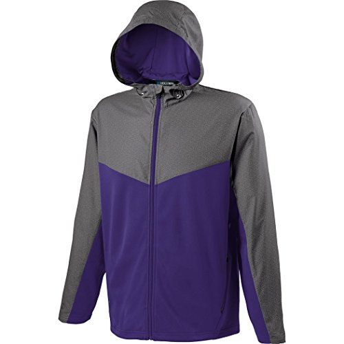 Holloway Sportswear MEN'S CROSSOVER JACKET Men's L Grey Print/Purple