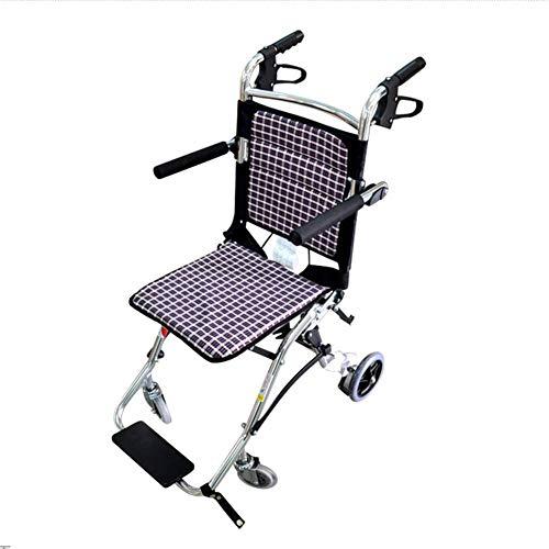 GYW-YW Silla médica de rehabilitación, sillas de ruedas, silla de ruedas plegable de peso ligero de conducción médica, Silla de ruedas de transporte de ancianos discapacitados Ultra silla de ruedas Ni