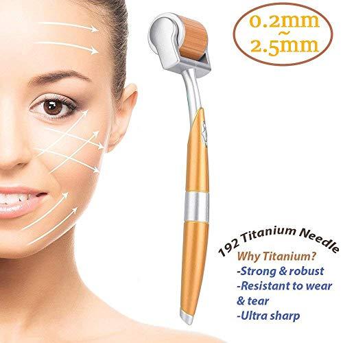 Premium Micro Needle Derma Roller - Kosmetisches Nadelkit für die Gesichtspflege |0,25 mm 0,3 mm 0,5 mm 1,5 mm 2 mm 192 Titan |Kostenloser Aufbewahrungskoffer |ZGTS Hautpflege-Tool ( Size : 0.5MM )