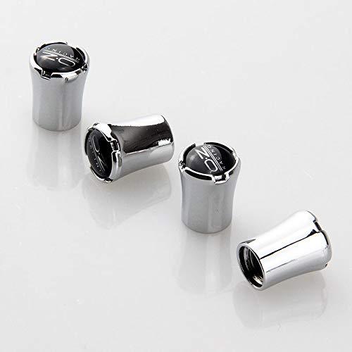 Wlkjhty 4 Piezas para OZ Racing Tapas de Metal para válvula de neumáticos de Coche, Tapas para Válvulas de Neumáticos con Anillos de Goma, Tapón de Polvo