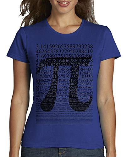 tostadora - T-Shirt Schwarzes Pi - Frauen Royalblau XXL