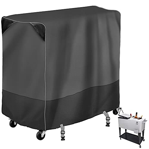 MBOOM Patio Cooler Trolley Cover,Rolling Cooler Cart Cover Fits Most Patio Ice Chest Party Cooler ,Waterproof, Dustproof and Sunscreen(34L x 19W x 31H inch)