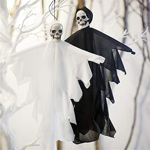 2 Piezas De Decoración De Halloween Fantasma Colgante, Colgante De Manga De Viento De Paja Fantasma Para Decoraciones De Fiesta Y Fiesta De Jardín De Jardín De Patio,Unique Party - Decoraciones Colgan