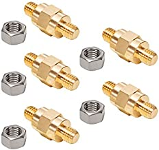 Side Post Battery Terminal Bolt Compatible with GM and Other Accessories to Battery,Standard Battery Post Stud Extender Screws 3/8 16 Stud Bolts,Pack of 5