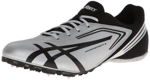 Asics - Männer Hypersprint 5 Leichtathletik-Schuhe, Quick Silver/Black, 39.5 EU