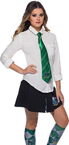 Rubie's Harry Potter Cravatta Serpeverde Slytherin Deluxe (39038), Verde e Grigio