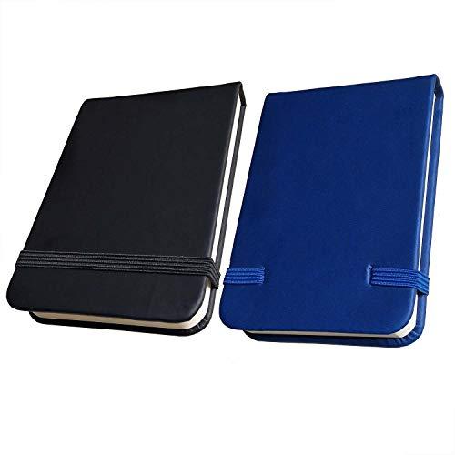 Mini taccuino con copertina rigida, formato A7da tasca in pelle PU alta con 96fogli a strappo chiusura elastica