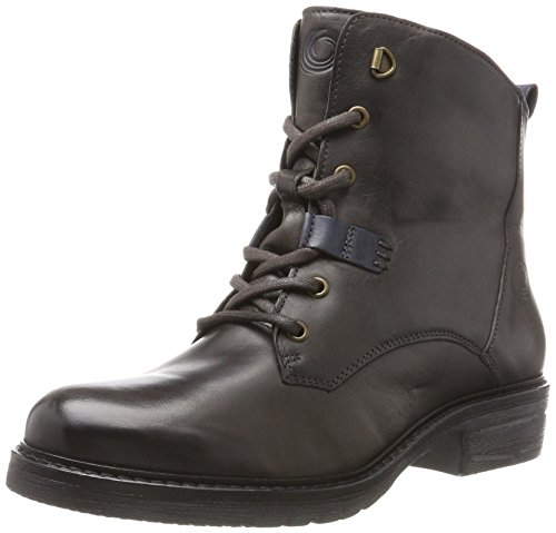 Be Natural Damen 25202 Combat Boots, Grau (Graphite), 37 EU