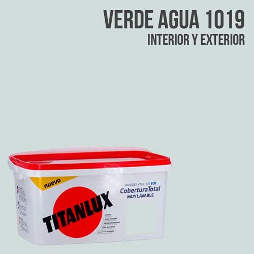 Titanlux - Pintura Plástica Cobertura Total Cubeta 4L (1020 Verde Aqua)