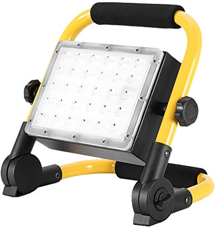 Riuty Wiederaufladbares LED-Flutlicht, Lithium-Batterie-Handwasserdichtes kampierendes Sicherheitslicht für Baustelle 110V 30W 50W (1 )