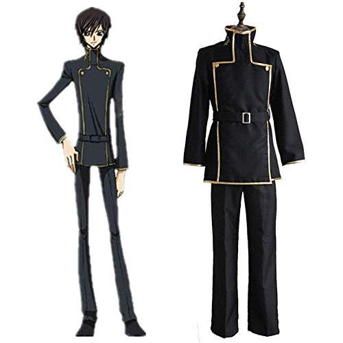 Cosplay Kleidung Code Geass Lelouch der Rebellion Anime Cosplay Kostüm Lelouch Lamperouge Halloween Ausstellung Männer Schuluniform Full Set XL