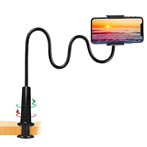 ZUSLAB Soporte Tablet, Universal Soporte para iPhone Smartphone -Brazo Flexible 360 Soporte de Clip de Montaje Noir