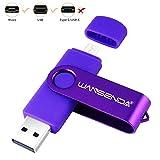 256GB OTG Micro USB Flash Drive USB Photo Stick for PC/Tablet/Mac/Android Phone Samsung Galaxy S7/S6/S5/S4/S3, Note5/4/3/2, A7/A8/A9,C5/C7, LG V40,G4,Q7,LG Stylo3 (Purple)