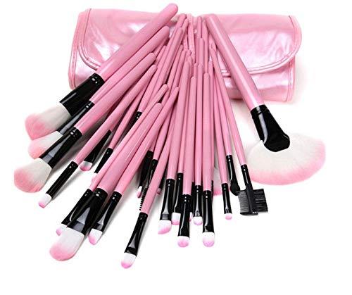 FFAA Pinceles De Maquillaje Fundación De Lujo Powder Blush Eyeshadow Concurrismo Maquillaje Pincel Conjunto Cosmetic Beauty Herramienta-Rosa X 32 Pcs