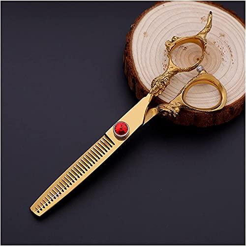 Ciseaux de Coupe de Cheveux Professionnels Razor Edge Hair, Ciseaux de Coiffure électrolytiques dorés, Ciseaux Plats, Ciseaux de texturation pour Salon pour Personnes âgées