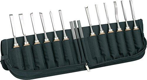 547943 - Schnitzbeitel Set 12-teilig im schwarzen, stabilen Etui! Erstklassiges Werkzeug für erstklassige Arbeiten!