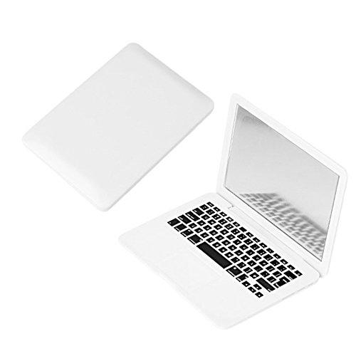 Leeofty Mini Pocket Laptop Mirror Computer Glass Mujeres Niñas Lindo