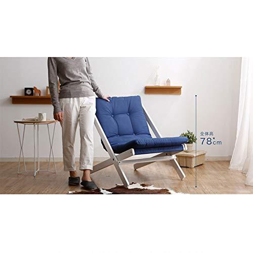 BCX Silla plegable de madera maciza Silla plegable de estilo nórdico Silla de haya A ++,Azul,C