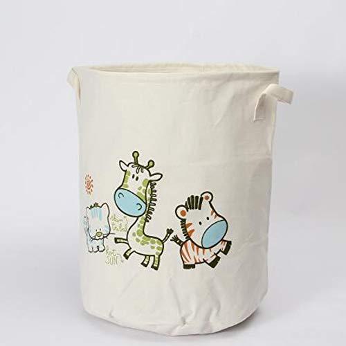 XIAOBAOZIXYL waterdichte wasmand Cartoon Dieren Kleding Opbergmanden Barrel Kinderspeelgoed Organizer mand