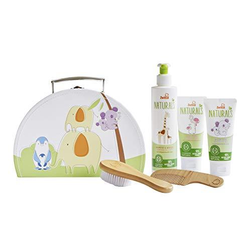 Zwitsal Geschenkset 4-delig - Shampoo, Wascrème, Zachte crème en Reiskoffertje Cadeaupakket
