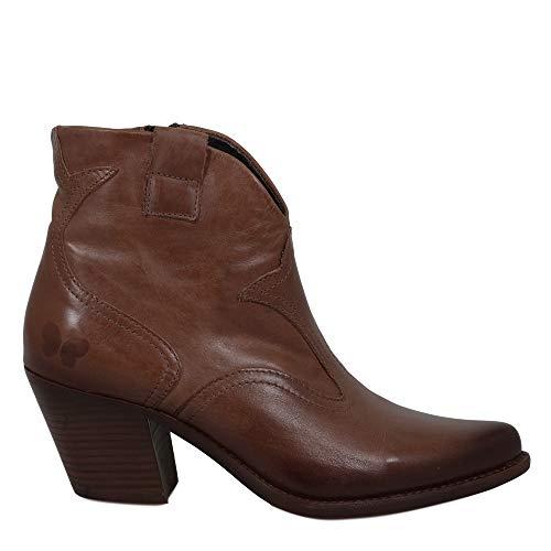 Felmini - Damen Schuhe - Verlieben Laredo B925 - Cowboy & Biker Stiefeletten - Echtes Leder - Braun - 37 EU Size