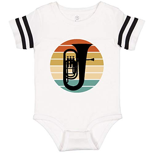 inktastic Tuba Music Infant Creeper 24 Months Football White and Black 37975