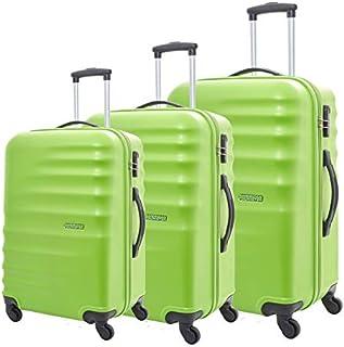 أمريكان توريستر حقائب سفر بريستون سبينر ، مجموعة من 3 ، مقاس 55 67 77 ، لايم