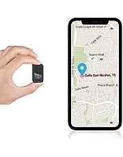 Mini Localizadores GPS, Rastreadores GPS Antirrobo con Imán y Seguimiento en Tiempo Real WiFi para Vehículos/Automóviles/Motocicletas/Niños/Billetera para iOS Android
